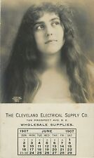 Lovely Lady, Cleveland Electrical Supply Co, June 1907 OH Ohio RPPC