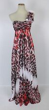 Jovani Print Formal Evening Long $450 Gown One Shoulder Size 2 Prom Cruise Dress