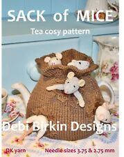 Sack of MICE mouse Teacosy Tea cosy cozy  toy knitting pattern