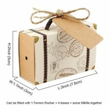Anniversary Favor Box Suitcase Candy Travel Classic Elegant Style Gift Birthday