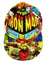 "Iron Man Marvel Comics Baseball Cap/Hat approx 22"" Circumfrence Free Shipping"