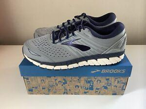NEW Brooks Beast 18 Men's Running Shoes - Gray/Blue - Sz 9.5 Wide 2E