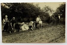 Vintage Real Picture Photos People Farming the Land Family Working the Farm Land