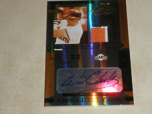 2004 Playoff Absolute Absolutely Ink Auto Jersey Will Clark 1/5