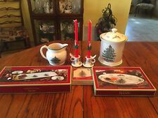 Lot of Miscellaneous Spode Christmas Tree Pattern Dishes In Great Cond.