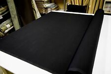 "BLACK 7OZ 100% COTTON CANVAS DUCK CLOTH FABRIC  60""WIDE SOLD BY THE YARD"