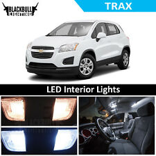 White LED Interior Lights Accessories Package Kit fits 2013-2018 Chevrolet Trax