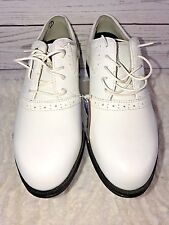 New Rockport Womens Golf Shoes Leather White 8M