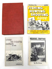 Russ Carman Trapping Book Lot vtg Hunting Fishing Shooting gun Fly fox muskrat