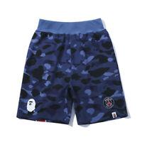 2020 Men's Bape A Bathing Ape Blue Camo Casual Shorts Beach Short Pants Cotton