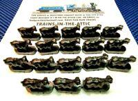 LIONEL COWS 3656-34 18EA. BLACK POSTWAR CATTLE COWS W/ MOTION FINGERS ON BOTTOM