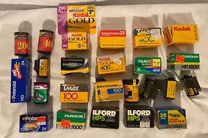 Huge Lot of Expired 35mm Film   Kodak, Fuji, Ilford, Polaroid
