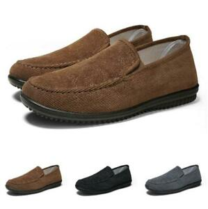 Mens Driving Moccasins Flats Breathable Canvas Pumps Slip on Loafers Shoes Hot D