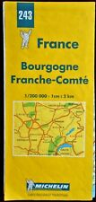 MICHELIN FRANCE 2000 COLOURED PAPER MAP of BOURGOGNE No.243 1:200 000