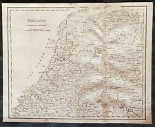 1798 Aaron Arrowsmith Antique Map of Holland & The Netherlands