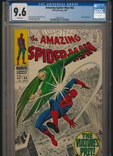 MARVEL COMICS AMAZING SPIDER-MAN #64 CGC 9.6 WP VULTURE APP