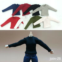 "1:12 Male Long Sleeve Shirt T-shirt Clothes Fit  6"" Soldier Action Figure Body"