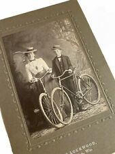 Bicycle Antique Cabinet Card Photo Mother Son Lockwood Menasha Wi