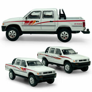 1:64 Toyota HiLux Pickup Truck Model Car Diecast Vehicle Collection White Gift