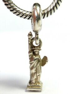 PANDORA S925 ALE STERLING SILVER DANGLE STATUE OF LIBERTY NEW YORK CHARM 791077