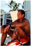 DAVID HASSELHOFF signed Autogramm 20x30cm KNIGHT RIDER autograph BAYWATCH