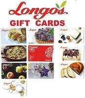 collectible LONGO'S store Canada gift rewards cards Longo Longos Canada