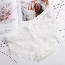 New Women's underwear sexy girl lace panties briefs white hot