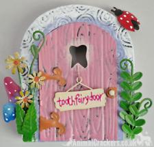 Metal opening pink TOOTH FAIRY DOOR garden ornament decoration Pixie lover gift