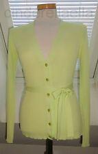 ESCADA Strickjacke mit Gürtel grün 34 hellgrün Damen cardigan Pullover Oberteil