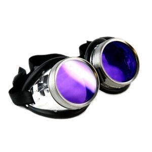 PAWSTAR Uber Goggles - Metal frame steampunk cyberpunk festival glasses 5412