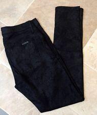 Hudson 26 x 27 NICO Super Skinny Mid Rise Black Gray Textured Shiny Ankle Jeans