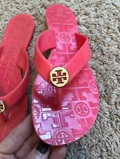TORY BURCH Size 7 Pink Jelly Thong Sandals Shoes