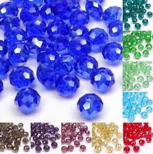 40x Kristallperlen Rondell Perlen 6x4mm FARBAUSWAHL Schmuckperlen Schliffperlen