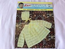 Original Vintage Knitting Pattern Emu Baby's Coat & Bonnet