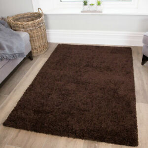 BROWN SHAGGY RUG 30mm HIGH PILE SMALL LARGE THICK SOFT LIVING ROOM FLOOR BEDROOM
