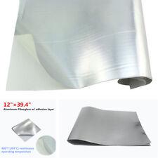 "Car Motorcycle Heat Shield Barrier Aluminum-Fiberglass +Adhesive Layer 12""x39.4"""