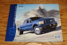 Original 2003 Ford Truck F-250 F-350 Super Duty Sales Brochure 03