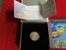 2012 Israel Coral Reef, Eilat Prooflike Silver Coin with Mint Box & COA NEW