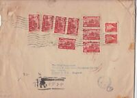 mid east to british india  steam navigation co 1965 huge stamps cover ref 12993
