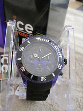 ICE WATCH Ice Chrono Electrik Schwarz Purple TOP Neu XL Big Chronograph
