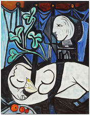 Nude - Signed Hand Painted Pablo Picasso Repro Cubist Oil Painting On Canvas