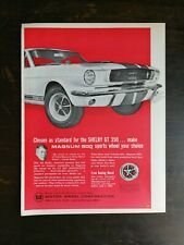 1966 Motor Wheel Corp Shelby GT 350 Magnum 500 Wheel Full Page Original Ad