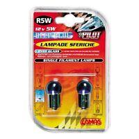 COPPIA LAMPADINE LAMPADE R5W BA15S SFERICA BLU-XE 5W LUCE BLU POSIZIONE TARGA