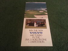1989 VOLVO 440 TURBO GOLF COMPETITION - SMALL UK 6 page COLOUR FOLOUR BROCHURE