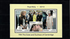 Penrhyn 2013 MNH Royal Baby Prince George William & Kate 3v M/S Royalty Stamps