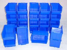 52 Stapelboxen GR.3 Stapelkästen 145x248mm  Blau  Sichtlagerkästen  NEU