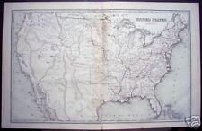 "T.G. Bradford: ""United States"" 1841 Original Engraving"