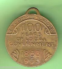 #D59.  KEILOR 100 YEARS OF LOCAL GOVERNMENT 1963  MEDAL