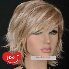 Blonde Mixed Short Spike Gothic Lolita Layer Wig + wig cap  AE11