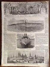 LE NOUVEL ILLUSTRE 1866 N 101 LE NOUVEAU BATEAU CIGARE  A BLACKWALD  angleterre.